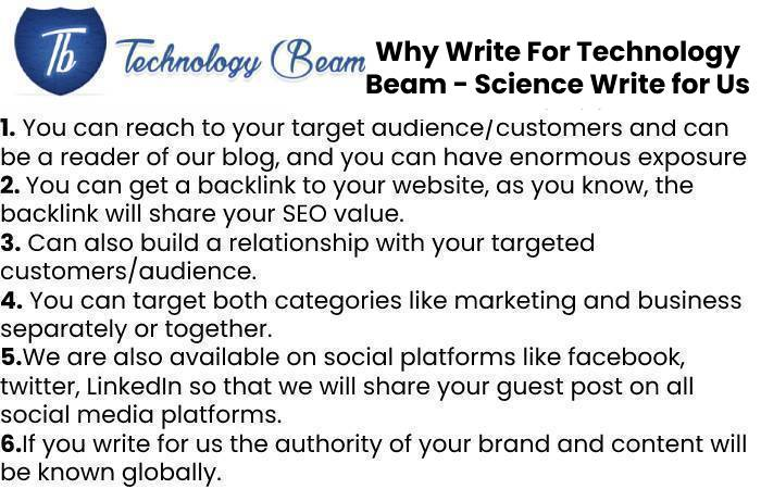 Why Write For Technology Beam - Science Write for Us