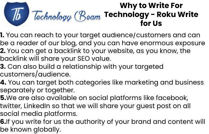 Why to Write For Technology - Roku Write for Us