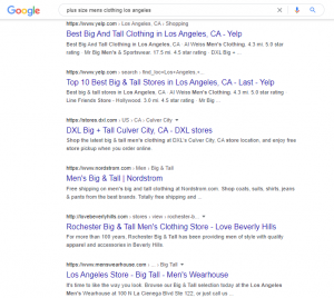 The results on the first result page are your competitors.